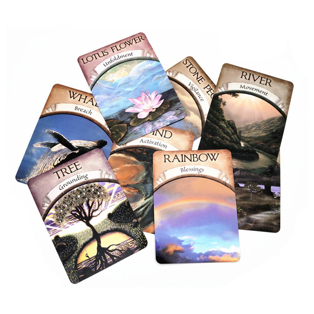 Magic Oracle Cards Earth 48-Card Deck Magic Oracle Cards Earth Read Fate Tarot And Guidebook Set 2019 NEW Oracle Cards