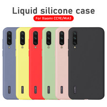 Case For Xiaomi Mi A3 Lite Case Ultra Thin Liquid Silicon Bumper Cover For Xiaomi Mi A3 lite Mi 9 SE 9T Pro CC9 8 A2 Phone Case(China)