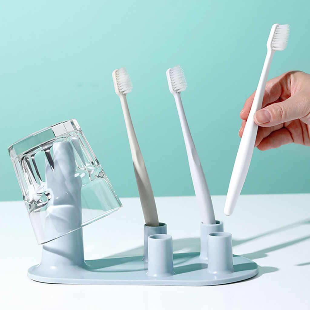 Wielofunkcyjny ceramiczne szczoteczki do zębów uchwyt do przechowywania Rack łazienka prysznic szczotka do zębów stojąca półka akcesoria łazienkowe #3