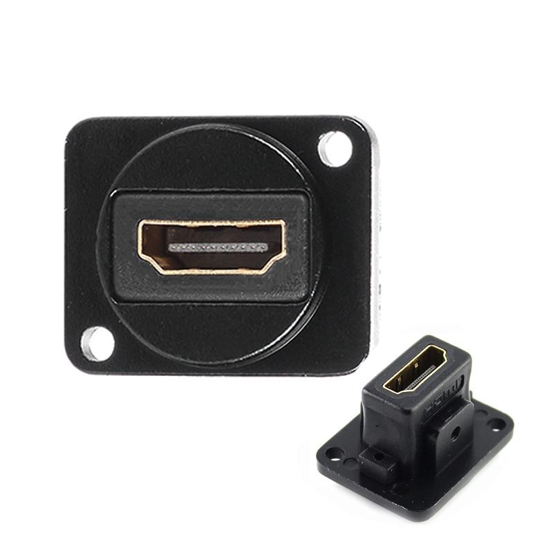 Arcade Cabinet HDMI Socket Panel Module HDMI Connector HDMI Wall Plate Module HDMI Coupler Passthrough Straight Socket