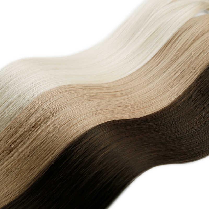 Sobeauty U Spitze Haar Extensions Menschliches Haar Extensions Remy Haar Verlängerung 2#18#60# Haar Verlängerung Für Kapseln 5 strand/pack