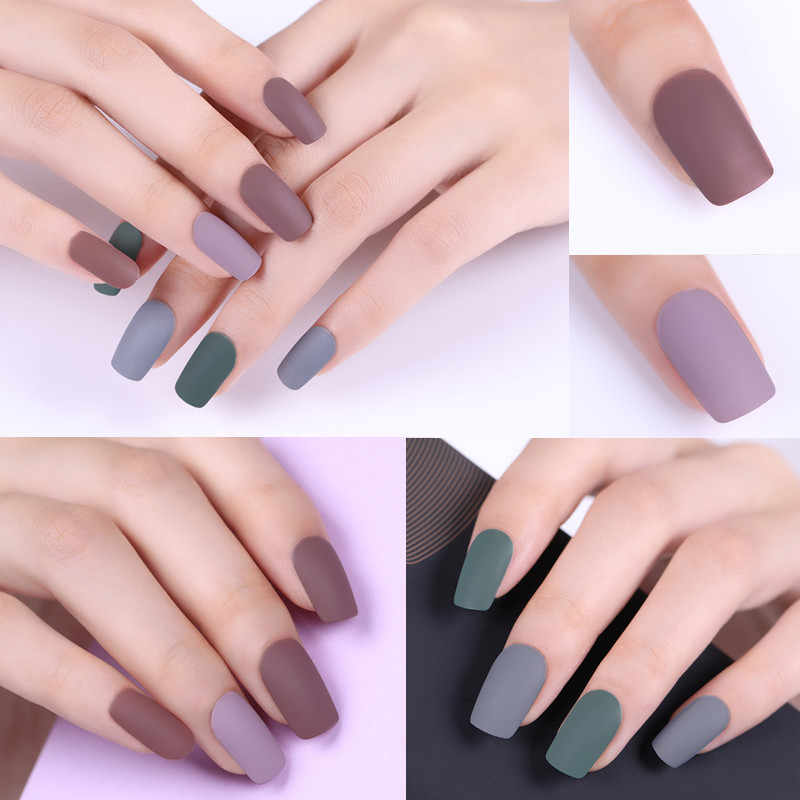 UR GULA 7.5ml Matte UV Gel Cat Kuku Kuku Warna Matte Top Coat Rendam Off Gel Nail Art Pernis pernis Dasar DIY