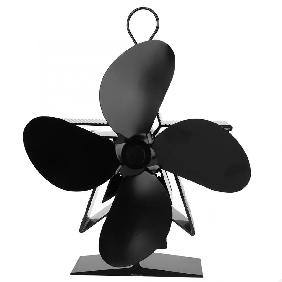 Eco-friendly 4 Blades Metal Energy-saving Heat Powered Stove Fan Fireplace Blower