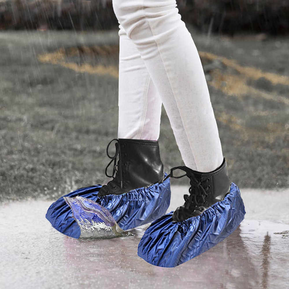 2019 nova reusável unisex chuva overshoes impermeável anti-deslizamento sapato cobre bota