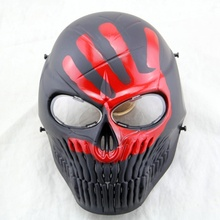 Airsoft Full Face Paintball Mask Skull Scary Horror Cosplay Halloween Mask CS Wargame Hunting Military Equipment Tactical Masks