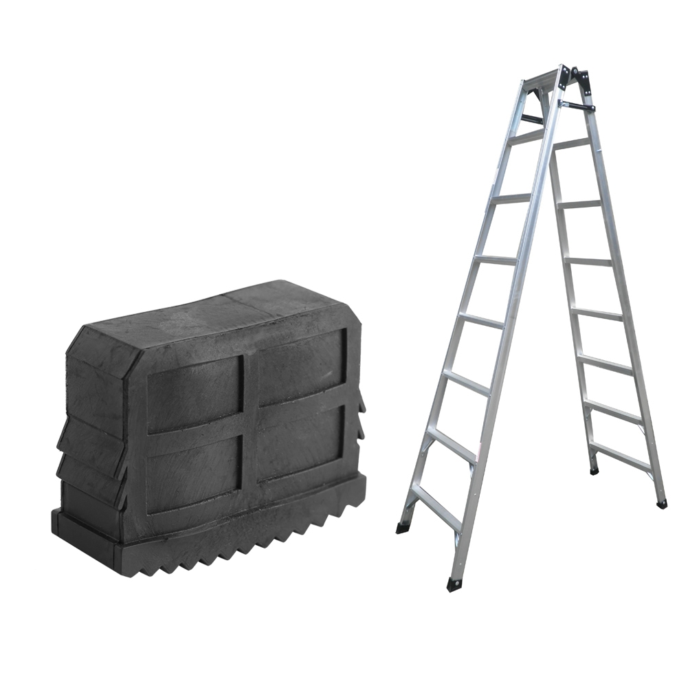 2pcs Black Replacement Slip Proof Step Ladder Feet Pad Quality Rubber Folding Double Ladder Foot Grip Cover Tool Accessories