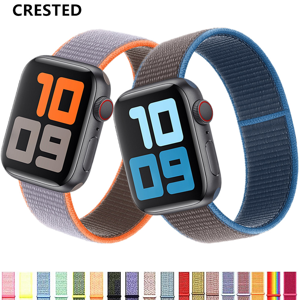 Strap For Apple Watch Band 44 Mm/40mm 42mm 38mm Bracelet Correa Pulseira Nylon Watchband Iwatch Apple Watch 5 4 3 Series 44mm