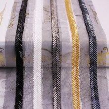 Trança de costura com grânulos de renda para a decoração cilindro artesanal frisado malha fita vestuário costura fornecimento 10mm 0.9m/quintal