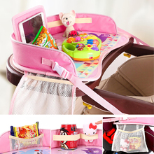 Portable Multifunctional Car Baby Safety Seat Table Tray Waterproof  Baby Meal Drawing Toy Table Stroller Cartoon Table Plate