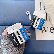Airpods için kılıf öğrenci silgi yumuşak silikon kablosuz bluetooth kulaklık airpods durumda 1/2 durumda sevimli şarj kutusu