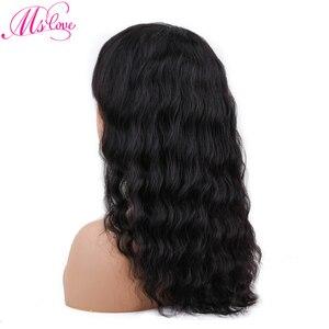 Image 3 - المحيط موجة باروكة من شعر طبيعي فضفاض موجة شعر مستعار البرازيلي مع الانفجارات الباروكات الطبيعية للنساء غير شعر ريمي Ms Love