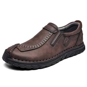 Image 3 - Мужские кожаные туфли в стиле ретро