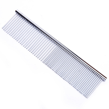 1pcs Pet Dog Comb Long Thick Hair Fur Removal Brush Stainless Steel Lightweight Pets Dog Cat Grooming Combs For Shaggy Dogs pet hair deshedding dog cat brush comb sticky hair gloves hair fur cleaning for sofa bed clothe pets dogs cats cleaning tools
