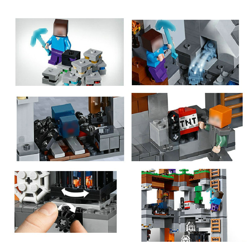 Image 5 - The Bedrock Adventures Building Blocks With Steve Action Figures Compatible My World MinecraftINGlys Sets Toys 21147Blocks   -