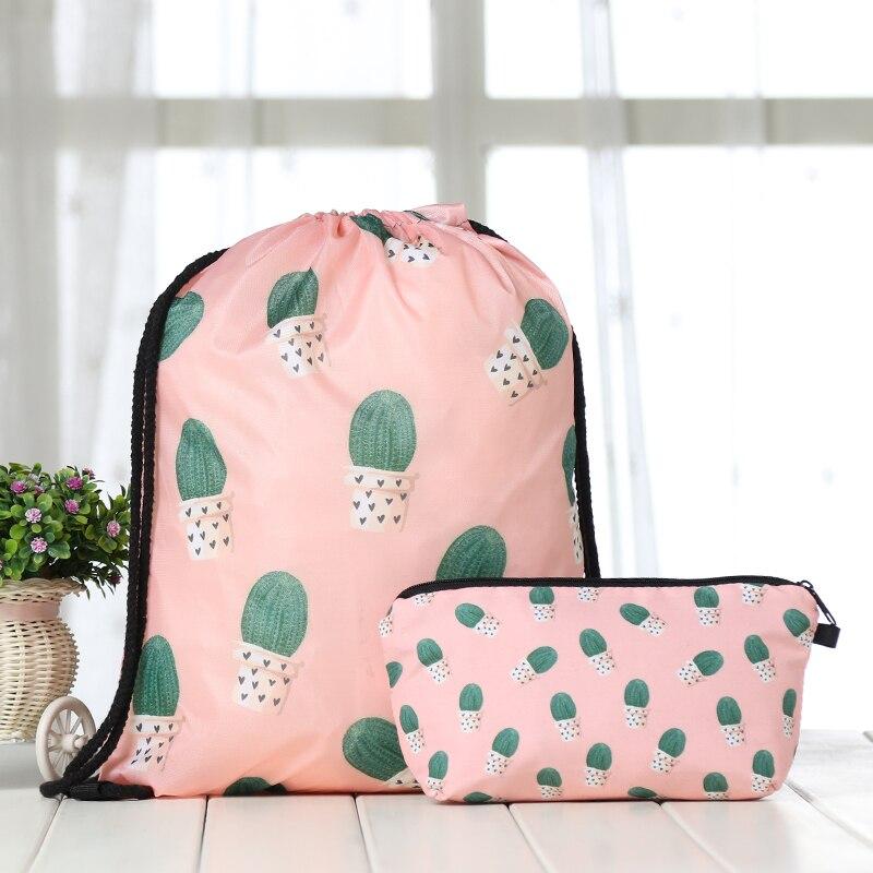 Bundle Pocket Suit Drawstring Fruits Backpack Drawstring Bags Fashion  Printing Men Casual Bags Unisex Women's Shoulder 3D Bag