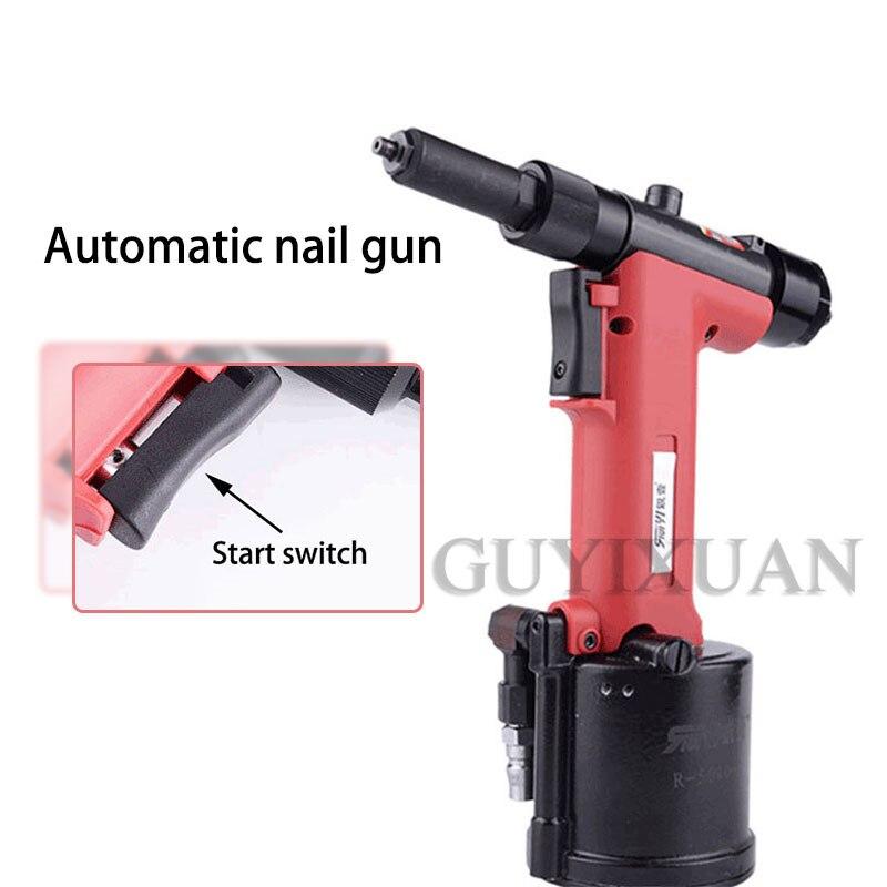 Automatic Pneumatic Nailing Machine Self-priming Blind Rivet Gun Industrial Grade Long Head Rivet Machine