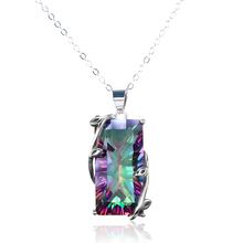 New Fashion Women Jewelry Mystic Rainbow Pendant Chain 24inch Chocker Necklace Party Prom Collares De Moda
