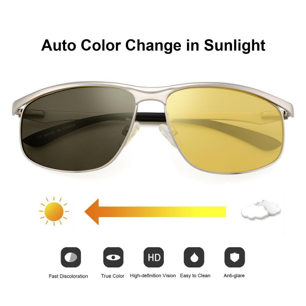 Mens Womens HD Night Vision Driving High Resolution Yellow Aviator Sunglasses