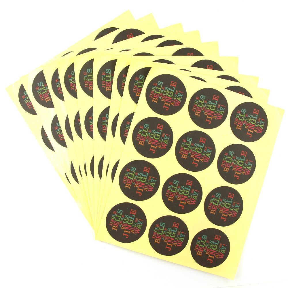 10 hojas creativo negro redondo gracias pegatinas hechas a mano Kraft papel pegatinas DIY Boda REGALOS fiesta suministros pegatinas Lable
