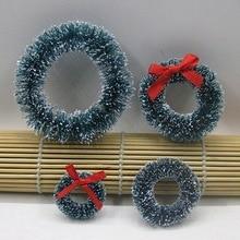 10 шт. мини натуральные Сизалевые венки Рождественские украшения для дома маленькие украшения для рождественской елки подвеска 3-4 см