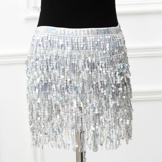 Sparkle Sequins Sexy 2 Piece Outfits Backless Low Cut Bra Crop Tops Bandage Long Tassel Mini Skirts Women Clubwear Matching Sets 5