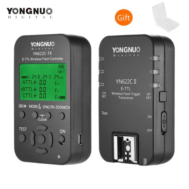 YONGNUO YN622C KIT Wireless E TTL HSS Flash Trigger YN 622C II for Canon EOS Series DSLRs YN622C 622C Flash Trigger Transceiver