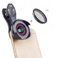 APEXEL กล้องเลนส์กล้องเลนส์16มม.4K มุมกว้างเลนส์ CPL กรอง Universal HD เลนส์โทรศัพท์มือถือสำหรับ iPhone Xiaomi Huawei