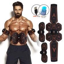 Abs/ems recarregável sem fio estimulador muscular abdominal inteligente aptidão massagem adesivo perda de peso cinto de emagrecimento do corpo