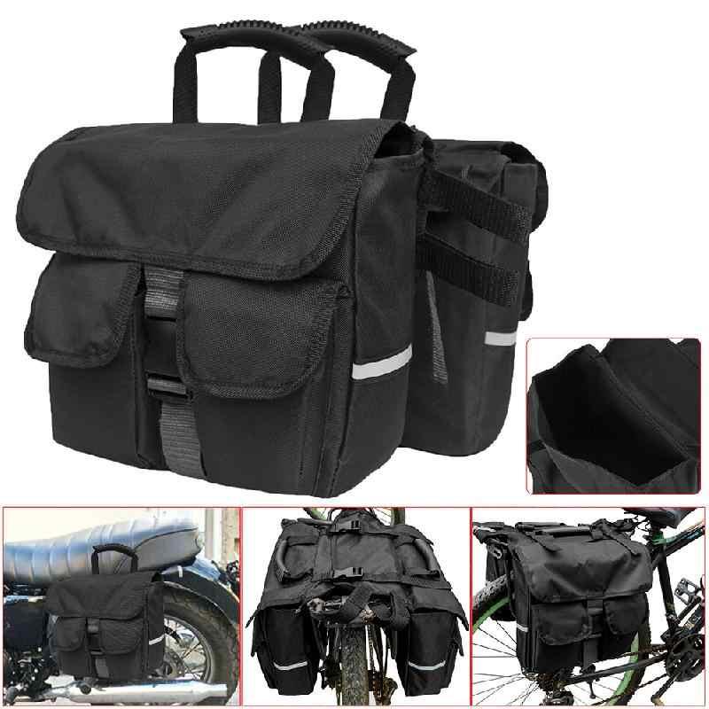 Nouveau noir moto vélo sacoche siège arrière sac à dos amovible banquette arrière sac de selle moto cavalier sac à dos