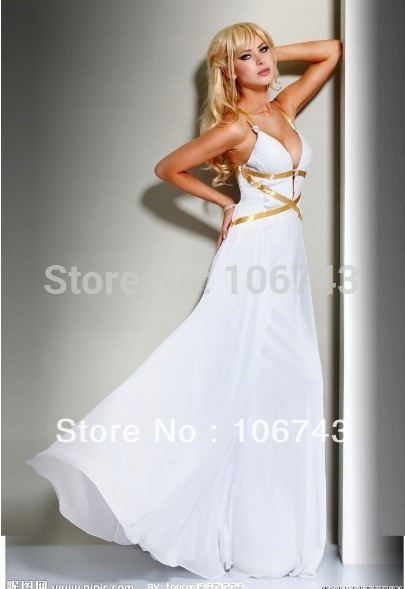 free shipping 2018 new design vestido de festa white long Formal Pageant sexy backless Elegant party prom gown   bridesmaid     dress