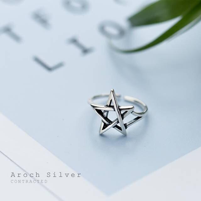 Преувеличенная индивидуальность, 925 пробы, серебряные кольца с изображением звезды Давида для женщин, свадебные ювелирные изделия, регулир...