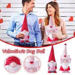 Ручная работа, 2021, конверт и любовь, Шведский Санта-гном, плюшевая кукла, праздничные фигурки, игрушка, кукла на День святого Валентина, украш...