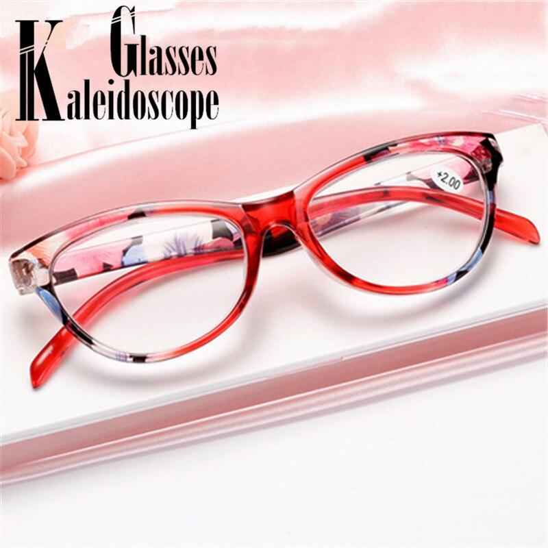 Cat Eye Reading Glasses Women Ultralight Anti Fatigue Spectacles Hyperopia Prescription Eyeglasses +1.0 1.5 2.0 2.5 3.0 3.5 4.0