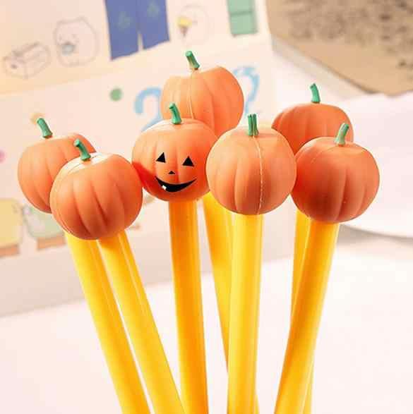 (1Pcs/Sell)0.5mm Halloween Pumpkin Head Gel Pen Kawaii Stationery Canetas Escolar Papelaria Gift Office Material School Supplies