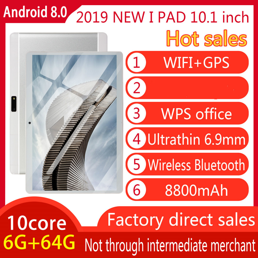 2020 10.1 Inch 6G+128G WiFi Tablet PC Dual SIM MTK6797 Bluetooth WiFi Call Phone Game Tablet PC