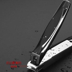 Image 4 - Coupe ongles en acier inoxydable noir, à la maison, outil de coupe ongles, pour adultes, placé dans les bagages