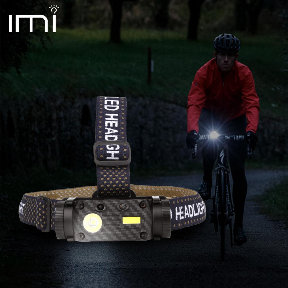 LED Headlamp Waterproof IP65 USB Rechargeable Battery Outdoor Lighting COB 18650 Camping Hiking Headlight Portable Fishing Light