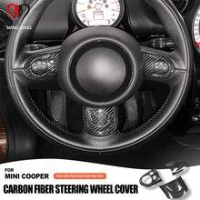 R55 R56 R57 R58 R59 R60 R61 Clubman Countryman Mini Cooper direksiyon kılıfı karbon Fiber İç dekorasyon çıkartmaları