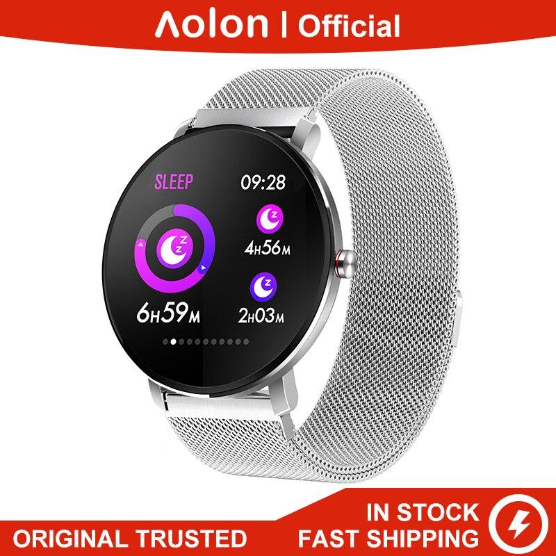 Aolon K9 Smart Watch Man IP68 Waterproof Full Touch Screen Smartwatch Heartrate Blood Pressure Fitness Tracker Sports Music