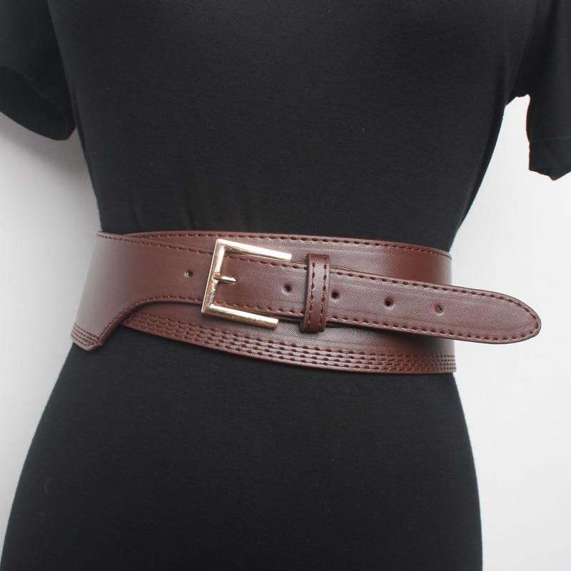2020 New Spring Summer All-match Pu Leather Belt Black Buckle Fashion Long Sweater Dress Women Belt