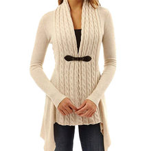 Cardigans For Women Twist Knitted Sweater Jacket Coat Femme Hiver Truien Dames New Soft Jumper Sweater Female Knit Tops(China)