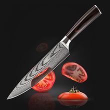 Кухонный нож с лазерным рисунком профессиональные японские шеф