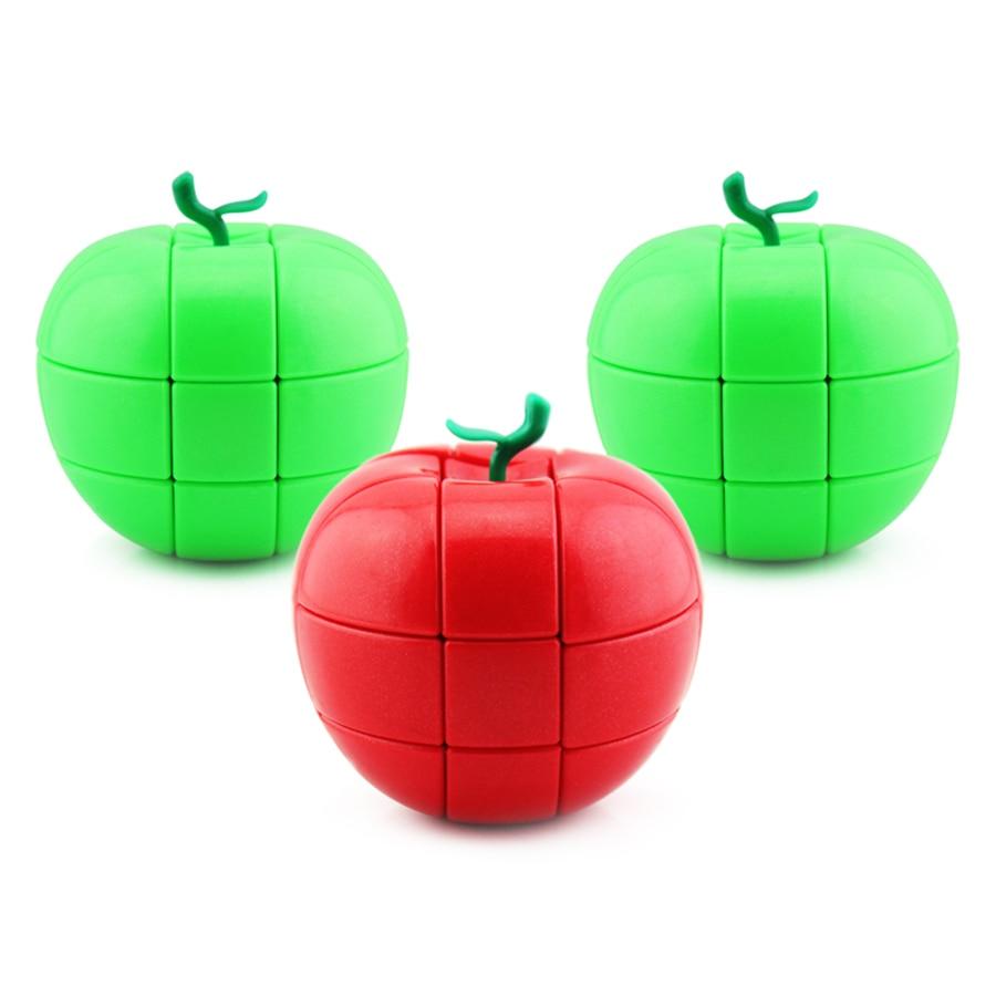 Magic Cube Puzzles Cube Magicos Kids Toys Educational Brinquedo Educativo Cubo Magico Puzzle Cube Red Green DD60MF(China)