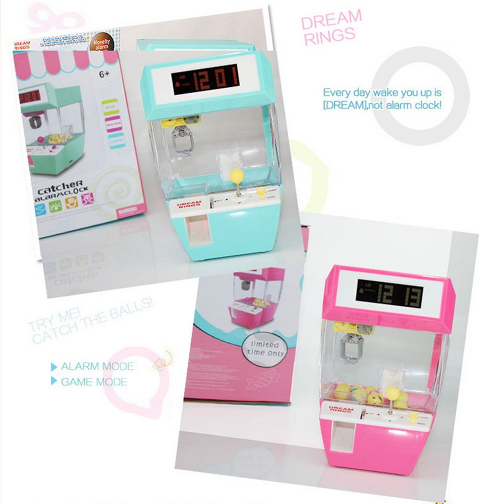 Catcher's Alarm Clock Slot Machine Game Machine Candy Hanging Doll Claw Claw Machine Arcade Children's Automatic Toys
