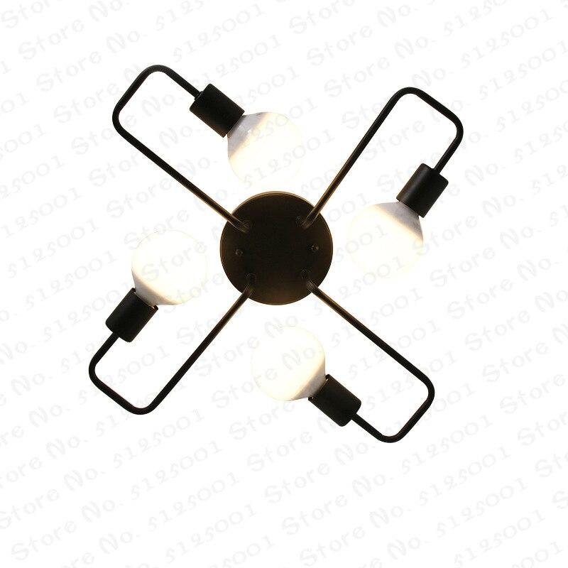 Retro 4/6/8 Heads LED Edison Ceiling Lamp Bedroom Living Room Pendant Light Chandelier Home Decor Vintage Lighting E27 220V
