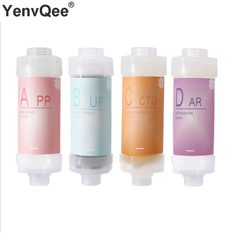 Unique Fragrance Water Shower Filter Purifier Lemon/Lavender Scent For Bathroom Hard Water Softener Chlorine Removing Filtered