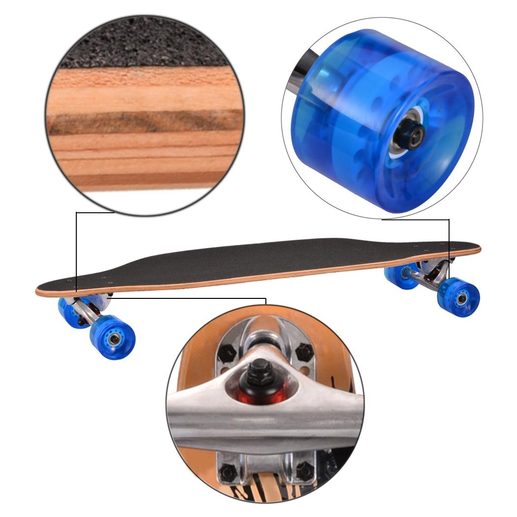 Nuevo fresco 4 ruedas tabla larga Skateboard deporte impreso Arce carbono acero Longboard adulto estudiante calle estilo Tabla de patín - 3