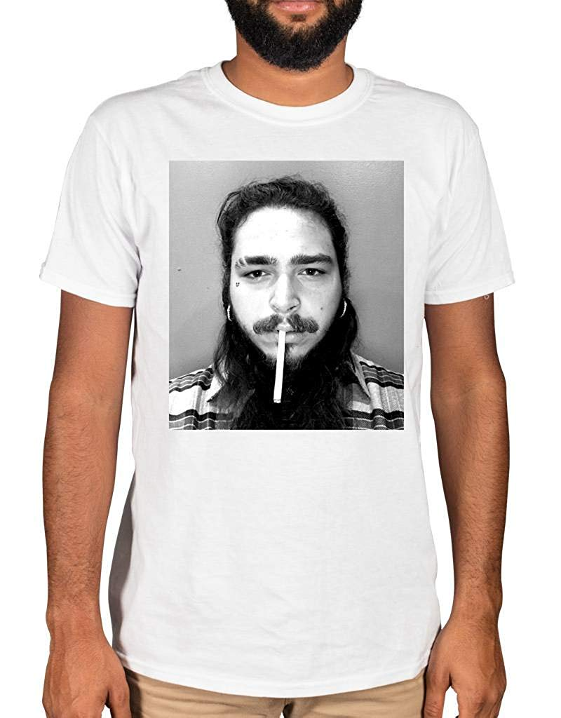 Ulterior Clothing Post Malone Cigarette T-Shirt <font><b>21</b></font> <font><b>Savage</b></font> White Iverson Summer Short Sleeves Cotton Fashiont Shirt image