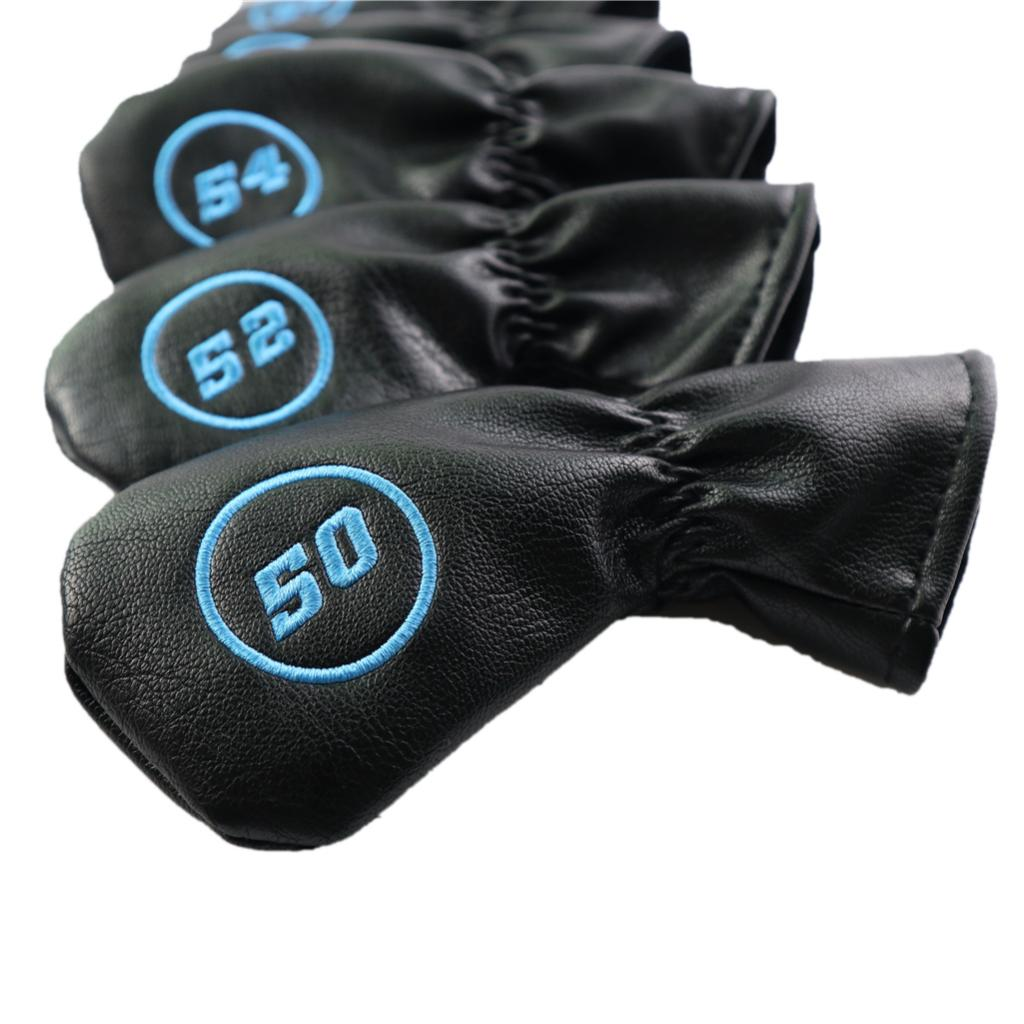 6pcs Golf Club Head Cover Irons Headcover Protector With Number Black