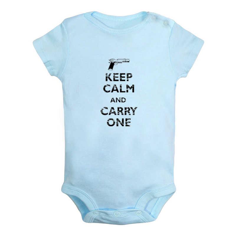 Houd Kalm En Love Me Slaap Zzz Carry Een Roze Ontwerp Pasgeboren Baby Jongens Meisjes Outfits Jumpsuit Afdrukken Baby Bodysuit kleding